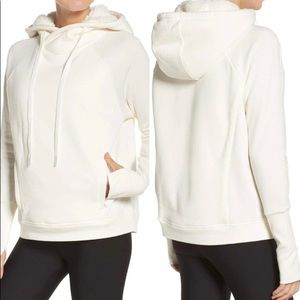 NEW ALO Frost Faux Shearling Lined Hoodie, Medium